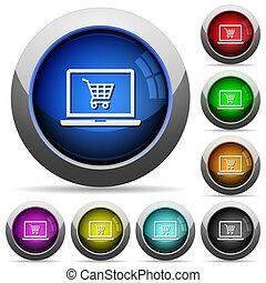 botões, webshop, redondo, lustroso