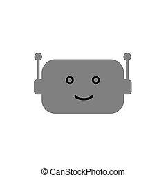 Bot icon on white background Vector illustration