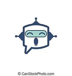 bot, icono, charla