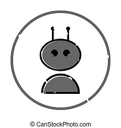 Bot outline vector icon on white background