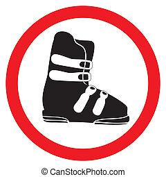 bota, esquí