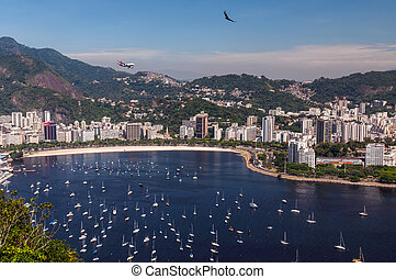 Botafogo Beach and Guanabara bay, Rio de Janeiro, Brazil