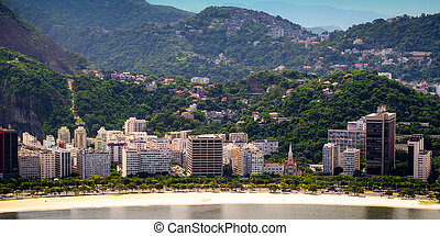 Botafogo neighborhood - Aerial view of buildings on the...
