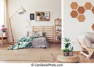 botanica, interior, com, verde, plantas