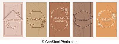 Botanical card set.