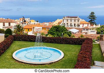 Botanical garden in La Orotava town, Tenerife, Canary...