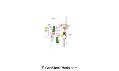 Botanical garden in Singapore icon animation isometric best object on white backgound