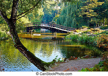 Botanical garden in Wroclaw, Poland