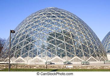 Botanical Gardens under Dome - Botanical gardens under glass...