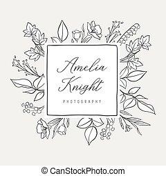 Botanical Illustration Premade logo - Botanical logo design...