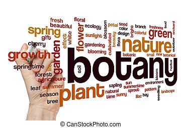 botanique, concept, mot, nuage