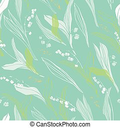 Botany modern lily of the valley pattern.