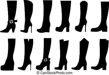 botas, jogo, diferente