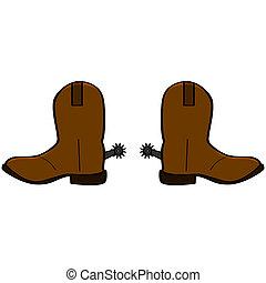 botas, vaquero