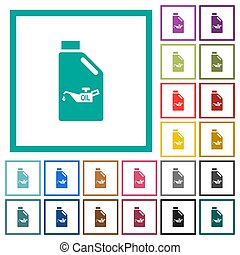 bote, aceite, plano, engrasador, marcos, color, iconos, ...