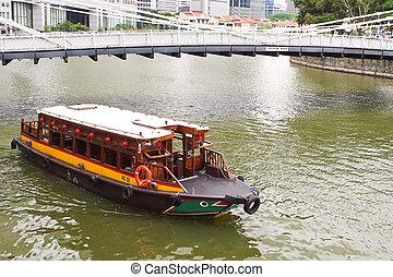 bote de río, singapur