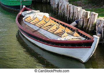 bote, em, albufera, valença, espanha
