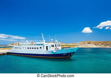bote, em, tropicais, oceânicos