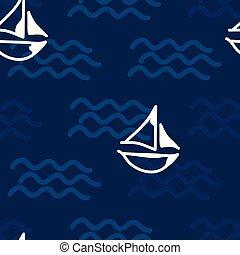 bote, mar, ondas