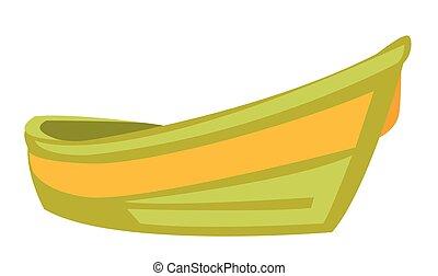 bote, vetorial, caricatura, illustration.