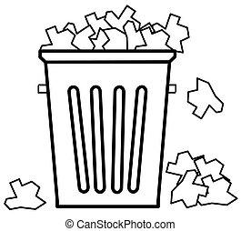 botede basura, basura, desbordante