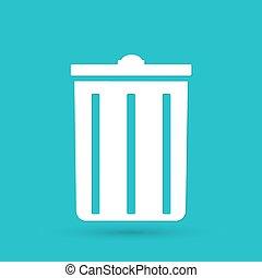 botede basura, icono