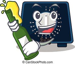 botella, avisador, diseño, aclamaciones, caricatura, cocina...