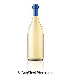 botella, blanco, transparente, vino