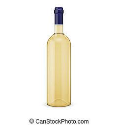 botella, blanco, vino