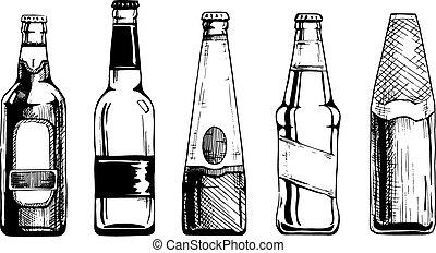 botella, cerveza