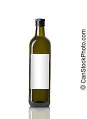 botella, con, aceite de oliva