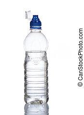 botella, de, agua mineral