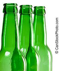 botella de cerveza, cuello