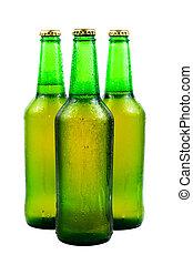 botella de cerveza, sudoroso