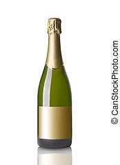 botella, de, champange