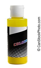 botella, de, coloreado, pintura