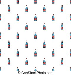 botella de la soda, patrón, seamless