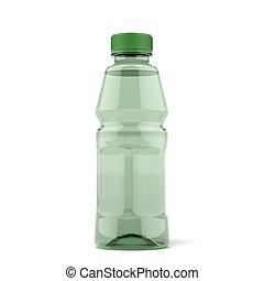 botella, de, verde, té del hielo
