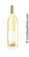 botella, de, vino blanco