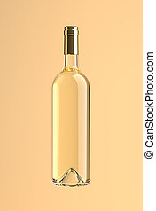 botella de vino, withe