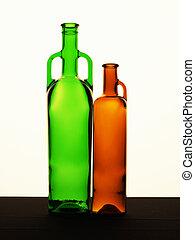 botella, en, un, fondo blanco
