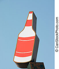 botella licor, señal