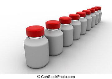 botella medicina, consecutivo