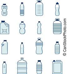 botella plástica, conjunto