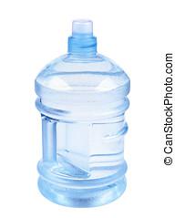 botella plástica, de, agua, aislado, blanco