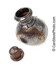botella, plata, aceite del perfume