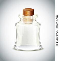 botella, vidrio
