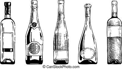 botella, vino