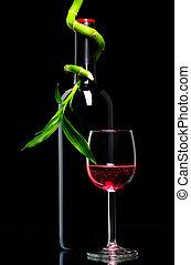 botella vino rojo