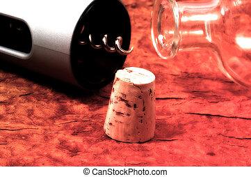 botella, y, corcho